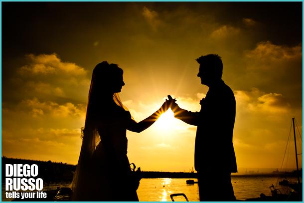 Silhouette Sposi - Foto Tramonto Sul Mare