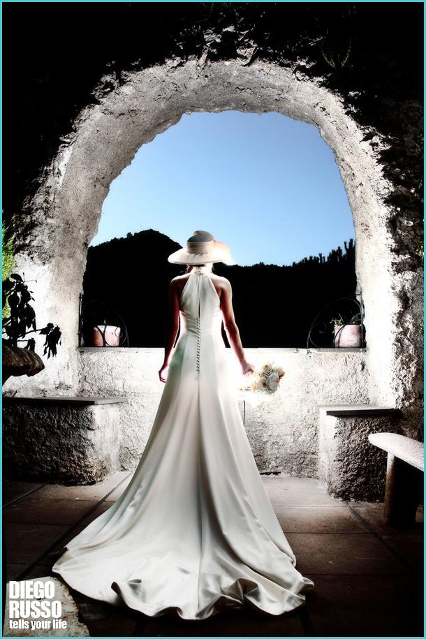 Retro Abito Sposa - Abito Sposa Con Lo Strascico - Cappello Sposa