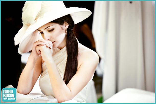 Acconciature sposa con cappello