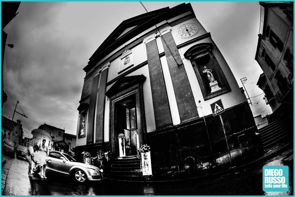 Foto Bianco E Nero - Arrivo Chiesa Sposa