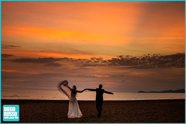 Foto Matrimonio Spiaggia : Nozze al tramonto diego russo studio fotografico