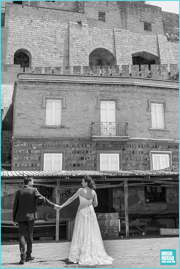 Foto Nozze - Foto Bianco E Nero Matrimonio - Foto Sposa Con Chignon - Foto Sposi - Wedding