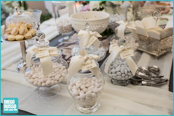 foto del tavolo della confettata - foto della confettata al matrimonio - foto tavolo dei confetti - foto al matrimonio - foto alle nozze