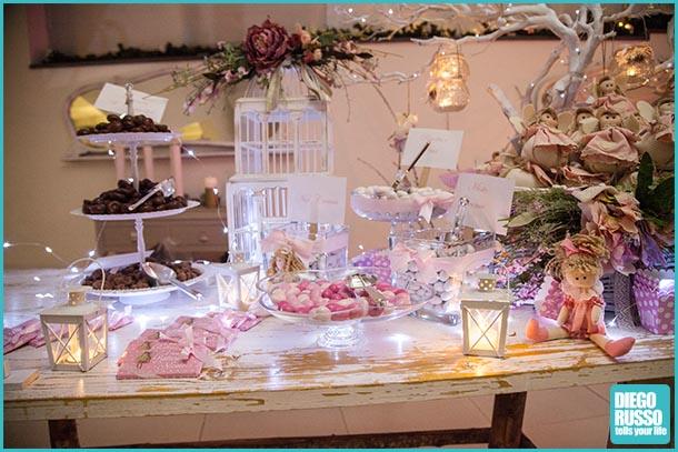 Foto tavolo confettata u foto confettata per battesimo u foto