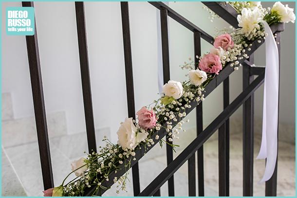 foto fiori per scale sposa - foto fiori casa sposi - foto decorazioni floreali