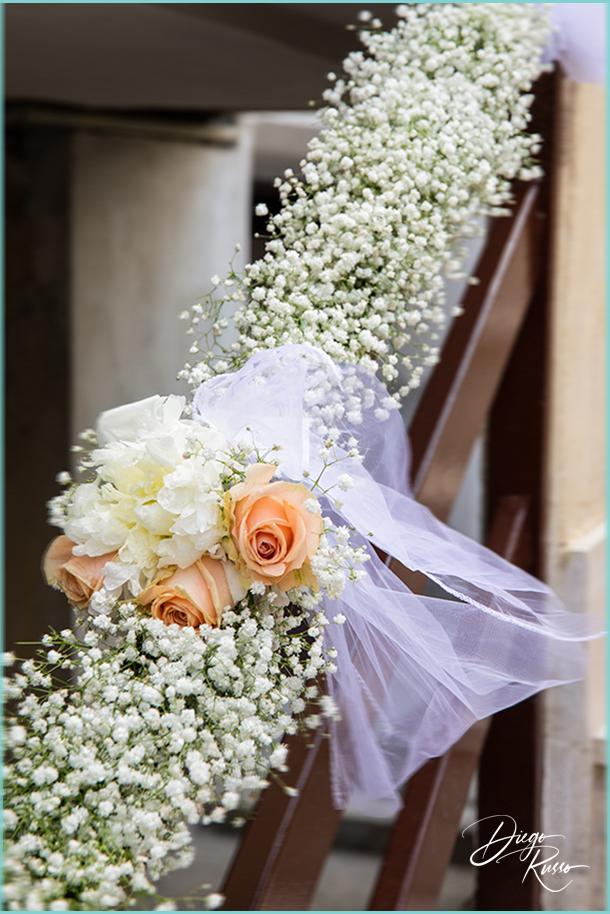 foto rose pesca matrimonio - foto decorazioni floreali - foto fiori per casa sposi